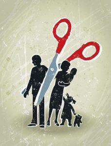 Divorce - Family and Scissors